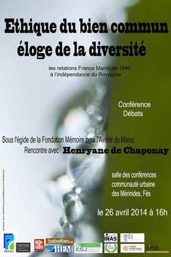 Affiche conference au Maroc